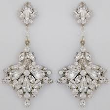 wedding earrings drop erin cole bridal earrings large fan drop chandelier earrings