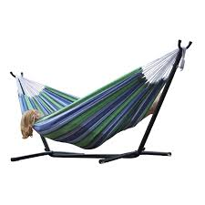 Hammock Stands Vivere Double Fabric Double Hammock With Steel Stand Hayneedle