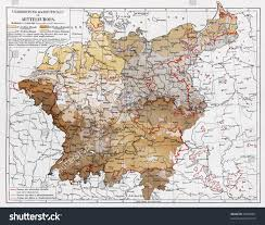 Map Central Europe by Vintage Map Representing Distribution Germans Central Stock Photo