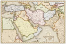 middle east map kazakhstan antique style middle east wall map maps