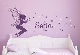 Personalized Name Wall Decals For Nursery by Baby Girl Room Decor Fairy Wall Decal W Blowing Stars Vinyl