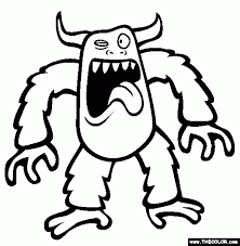 monsters coloring pages 1 intended monster