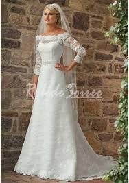 robe de mari e dentelle manche longue robe de mariée manche longue a line princess hors la épaule