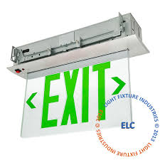 Ceiling Mounted Emergency Lights by Elr G Exit Signs Exit Light Co