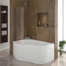 Corner Bathroom Showers Estuary Corner Shower Bath 1500mm With Screen Panel Corner
