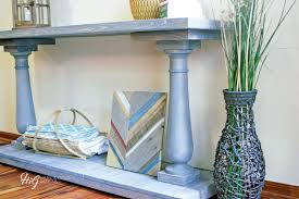 Yukon Console Table How To Build A Diy Balustrade Console Table