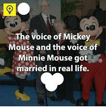 Mickey Meme - the voice of mickey mouse and the voice of minnie mouse got married