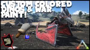 ark survival evolved gameplay 52 custom colored dinos u0026 warpaint