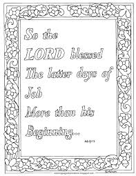 coloring pages for kids by mr adron job 42 12 the lord blessed