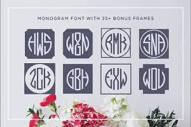 Initial Monogram Fonts Circle Monogram Font Display Fonts Creative Market