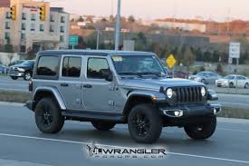 overland jeep wrangler unlimited rubicon sahara sport and overland jl wranglers spotted in