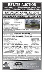 upcoming auctions 1 davenport auction u0026 realty inc hutchinson