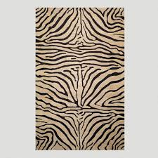 Zebra Area Rugs Zebra Tufted Wool Area Rug World Market