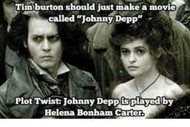 Johnny Depp Meme - tim burton should just make a movie called johnny depp plot twist