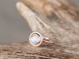 moonstone engagement rings terra w moonstone 14k gold moonstone diamond halo engagement