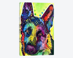 German Shepherd Christmas Yard Decorations by German Shepherd Art Etsy