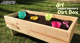 How To Install A Raised Garden Bed - let your kids get dirty with a diy dirt box how to build a simple