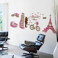 Beautiful Wall Stickers For Room Interior Design Aliexpress Com Buy Romantic Paris Eiffel Tower Wall Stickers