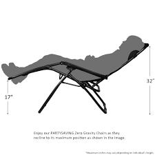 Lounge Chair Dimensions Ergonomics Amazon Com Partysaving Infinity Zero Gravity Outdoor Lounge