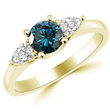 blue gemstones rings images 1 08ct vs1 3 stone blue white diamond engagement ring jpg