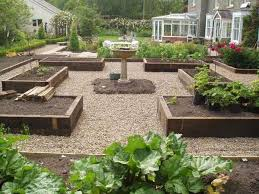 Potager Garden Layout Potager Garden Timber Beds And Gravel Paths Mine Also Has A