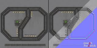 sci fi spaceship environment door texture maps by foejred on