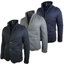 this mens padded grey blazer is a jacket style slim fit elbow