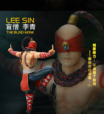 Lol Blind 18cm Lol Action Figure Lee Sin The Blind Monk Pvc Lol Figure Model