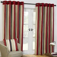 black and red curtains plaid vintage cotton fabric black red