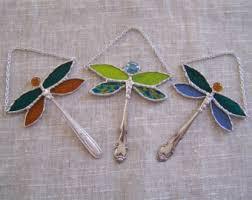 glass dragonfly etsy
