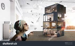 design your dream house mixed media stock photo 500116831