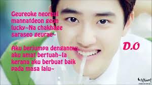 exo xoxo lirik exo k lucky rom malay lyric youtube