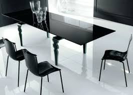modrest draft modern extendable glass dining table with extension