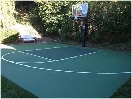 Basketball Court In The Backyard Backyards Winsome Basketball Court Surfaces And Paint 50