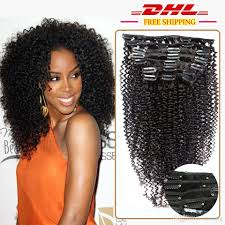 clip on hair 7a unprocessed malaysia curly clip in human hair extension