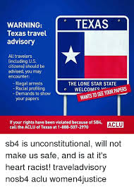 Texas travel warnings images 25 best memes about sb4 sb4 memes png