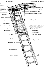memphis folding stairs parts