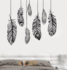 aliexpress com buy ethnic love feather romantic bedroom wall art