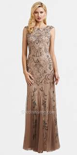 papell dresses buff sheer beaded evening dresses by papell our vow
