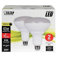 Led Light Bulbs 2700k by Feit Br40 65 Watt Dimmable Led Light Bulb 2 Pack 2700k Soft