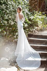 backless lace wedding dresses lace wedding dresses sleeves sheer backless v neck chiffon