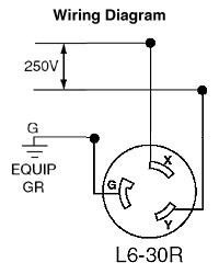 leviton 2621 30 amp 250 volt nema l6 30p 2p 3w locking plug