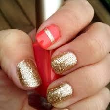 gold acrylic nail designs get nailed pinterest gold acrylic