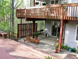 exterior outdoor deck of house design come with ceramic deck