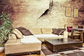 Living Room Furniture Corner Grunge Living Room Or Interior With Dirty Design With Sofa Corner
