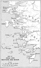 Asia Minor Map by Herodotus The Persian Wars Volume I Loeb Classical Library