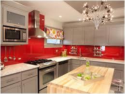 Red Gloss Kitchen Cabinets Kitchen Black Kitchen Countertop Cherry Red Kitchen Cabinets