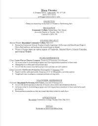 acting resume exle brilliant theatre resume exles in acting resume acting