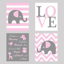 Pink Elephant Nursery Decor Best Elephant Print Nursery Products On Wanelo
