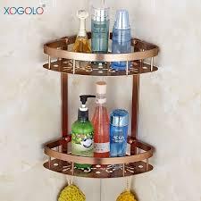 Bathroom Corner Shelving Sales Bathroom Corner Shelf Dual Tier Aluminum Shower Basket